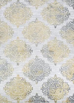 Couristan Calinda Montebello Gold - Silver - Ivory Area Rug
