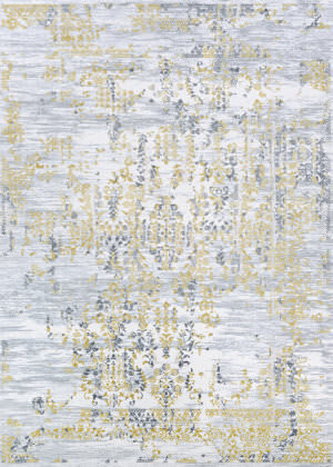 Couristan Calinda Samovar Gold - Silver - Ivory Area Rug