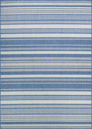 Couristan Recife Gazebo Stripe Champagne - Blue Area Rug