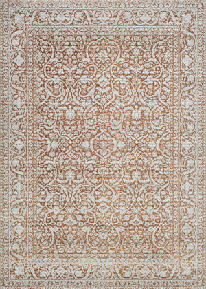 Couristan Patina Qum Flower Pot Area Rug