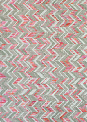 Couristan Tides Shelter Island Sienna Red - Beige Area Rug