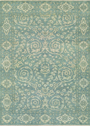 Couristan Tenali Latur Dusty Blue Area Rug