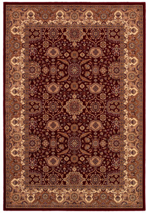 Couristan Himalaya Kailash Persian Red - Antique Cream Area Rug