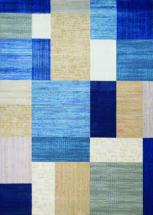 Couristan Everest Geometrics Navy - Bone Area Rug