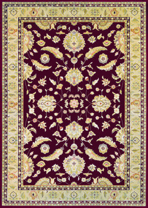 Couristan Cadence Cantata Ruby - Cream Area Rug