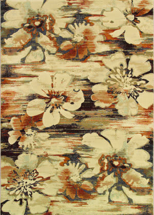 Couristan Easton Mosaic Florals Multi Area Rug
