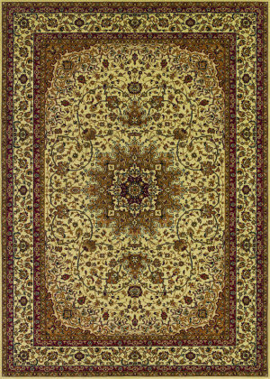 Couristan Izmir Royal Kashan Ivory Area Rug