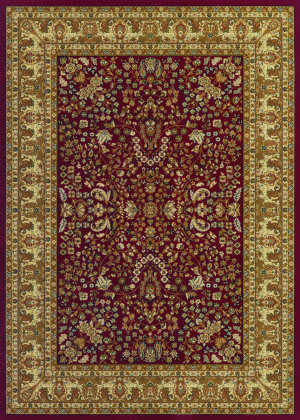 Couristan Izmir Floral Mashhad Red Area Rug