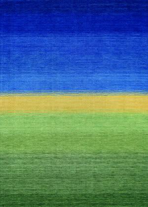 Couristan Oasis Greener Pastures Ocean Blue - Grass Area Rug