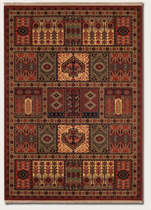 Couristan Kashimar Antique Nain Burgundy Area Rug