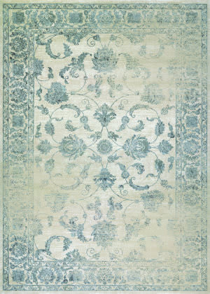 Couristan Provincia Botanic Applique Beige - Grey Area Rug