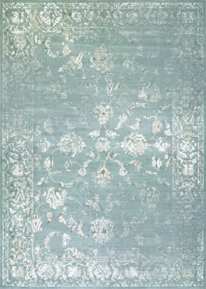 Couristan Provincia Botanic Applique Grey - Cream Area Rug