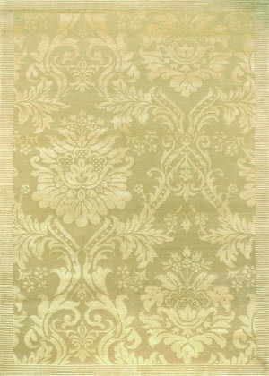 Couristan Impressions Antique Damask Gold - Ivory Area Rug