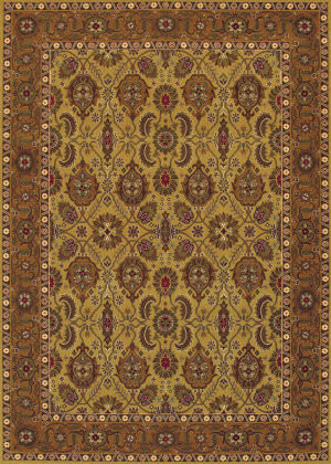 Couristan Royal Kashimar All Over Vase Hazelnut Area Rug