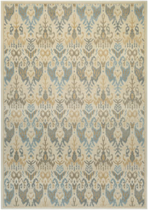 Couristan Everest Zion Desert Sand - Teal Area Rug