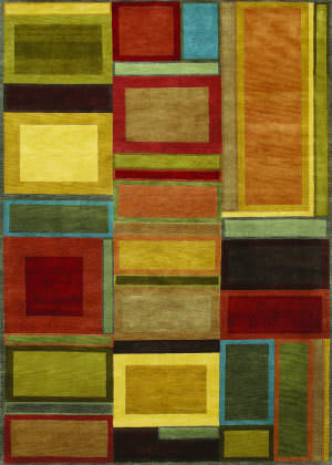 Couristan Pokhara Iridescent Block Multi Color Area Rug
