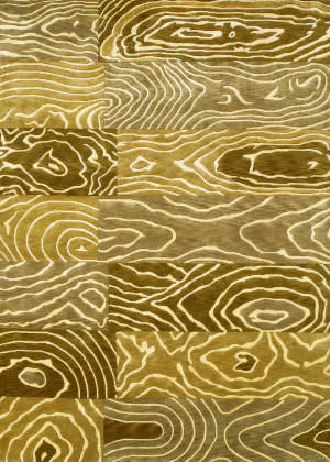Couristan Pokhara Wood Grain Gold - Beige Area Rug