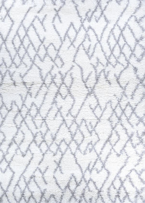 Couristan Urban Shag Fes White - Light Grey Area Rug