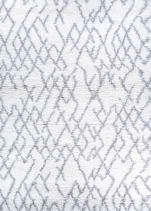 Couristan Urban Shag Fes White - Light Grey Area Rug