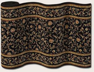 Couristan English Manor Windermere 3301-0005 Black A Custom Length Runner