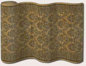 Couristan English Manor Devonshire 3339-0002 Gold A Custom Length Runner