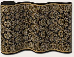 Couristan English Manor Devonshire 3339-0001 Black A Custom Length Runner