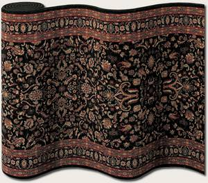 Couristan Taj Mahal Ispaghan Black 7317-3229 Custom Length Runner