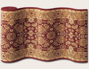 Couristan Royal Kashimar All Over Vase Perisan Red 8132-2608 Custom Length Runner