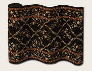 Couristan Adelaide Trellis 9148-B004A Ebony Custom Length Runner