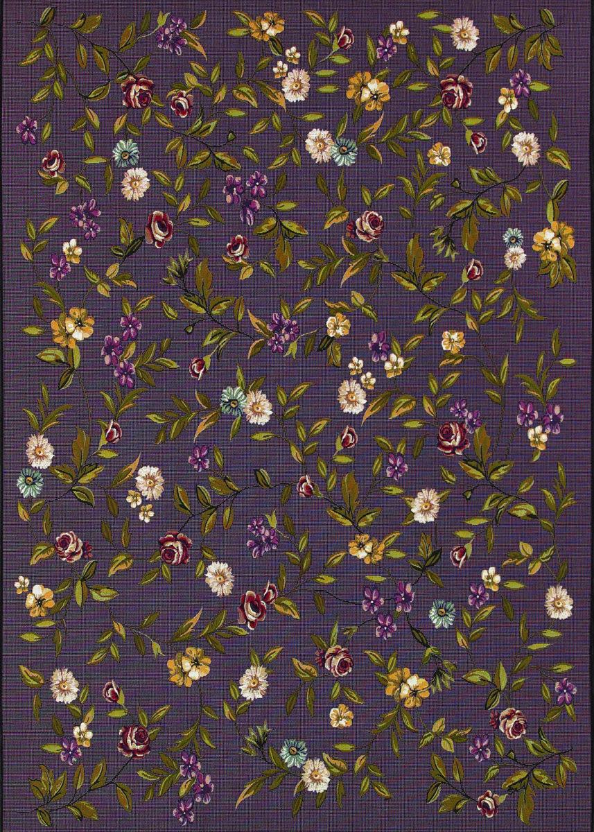 Couristan Dolce Gardenia Black Multi Area Rug 172739