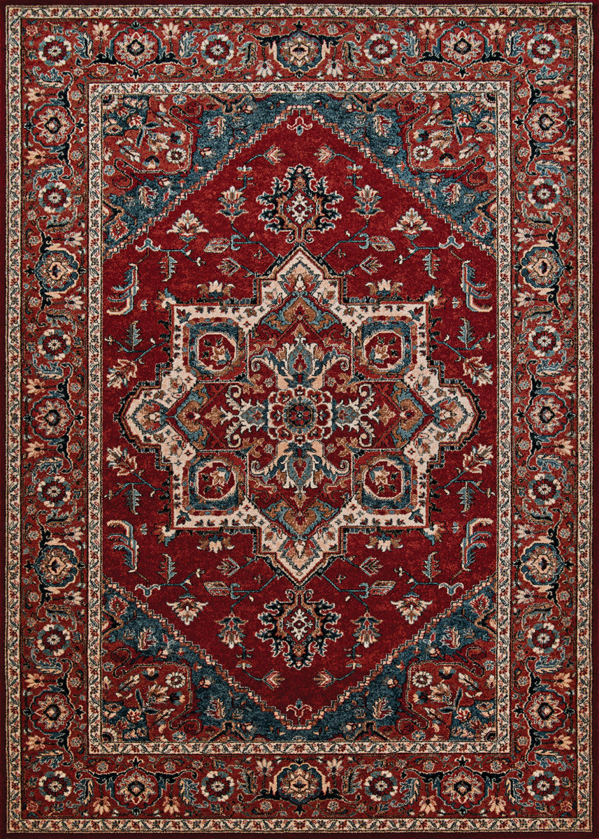 Couristan Old World Classic Antique Mash Antique Red Rug Studio