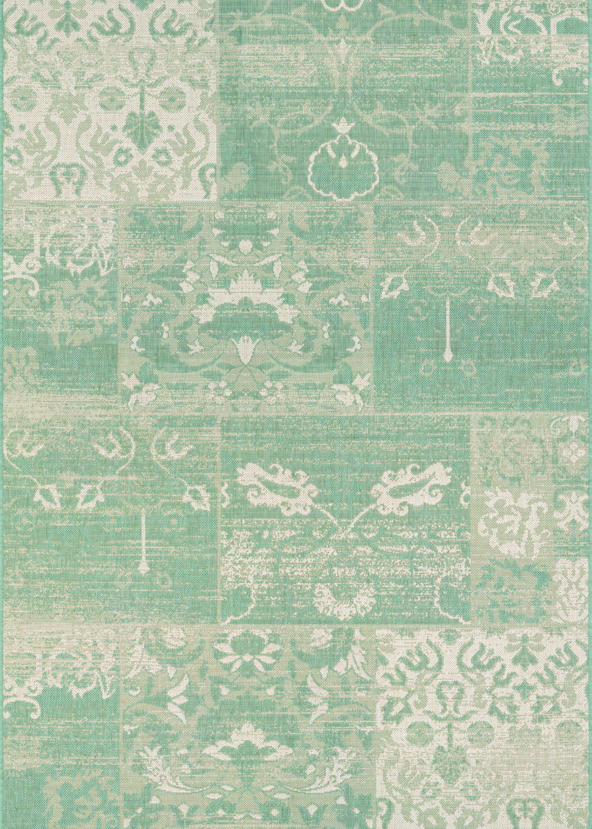 Couristan Afuera Country Cottage Sea Mist Ivory Rug Studio