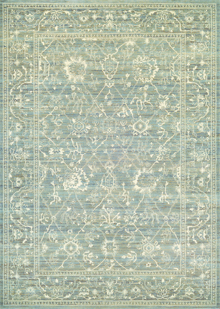 Couristan Everest Persian Arabesque Charcoal Ivory Rug