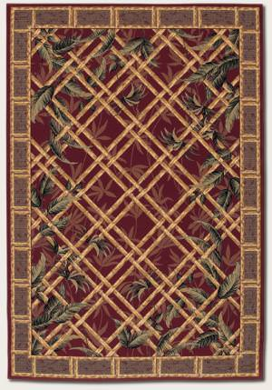 Rugstudio Famous Maker 39173 Raspberry Area Rug
