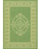 Couristan Recife Antique Medallion Green - Natural Area Rug