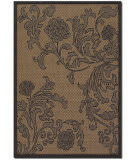 Couristan Recife Rose Lattice Cocoa - Black Area Rug