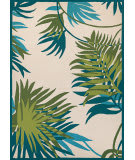 Couristan Covington Jungle Leaves Ivory - Forest Green Area Rug