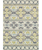 Couristan Covington Pegasus Ivory - Navy - Lime Area Rug