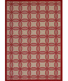 Couristan Five Seasons Retro Clover Red - Natural Area Rug