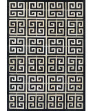 Couristan Chalet Meander Black - Ivory Area Rug