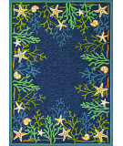Couristan Outdoor Escape Sea Water Ocean - Aqua Area Rug