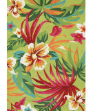 Couristan Covington Painted Fern Fern - Red Area Rug