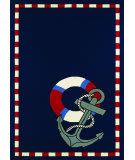 Couristan Outdoor Escape Anchors Away Navy Area Rug