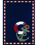 Couristan Outdoor Escape Anchors Away Navy Area Rug