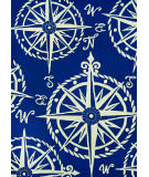 Couristan Outdoor Escape Mariner Navy - Ivory Area Rug