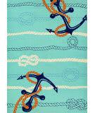 Couristan Outdoor Escape Anchorbend Ocean Blue Area Rug