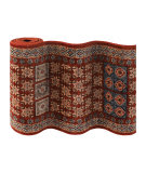 Couristan Timeless Treasures Royal Kazak 4307 Burgundy Custom Length Runner