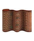 Couristan Old World Classics Antique Turkoman 4327 Burgundy Custom Length Runner