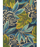 Couristan Covington Areca Palms Azure - Forest Green Area Rug