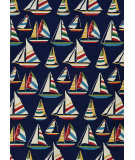 Couristan Outdoor Escape Yachting Navy Area Rug
